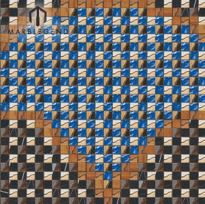 New Design Mix Color Pattern Wood Mosaic Tile Flooring Decorative Accents