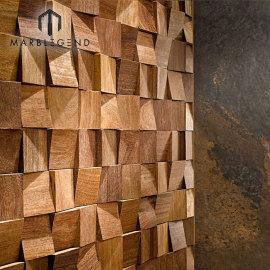 Mosaico de madera de la nave vieja para el uso en el hogar y la teja de mosaico de madera de la pared