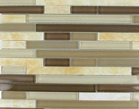 Interlocking  Crystal Glass Tile