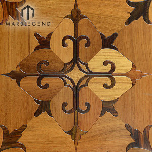 Rhombus Design Marquetry Wood Inlay Solid Wood Parquet Flooring Tiles