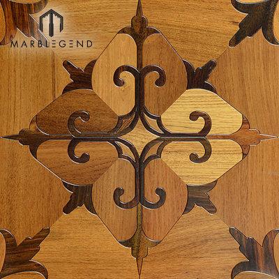 Rhombus Design Marquetry Wood Inlay Suelos de parquet de madera maciza