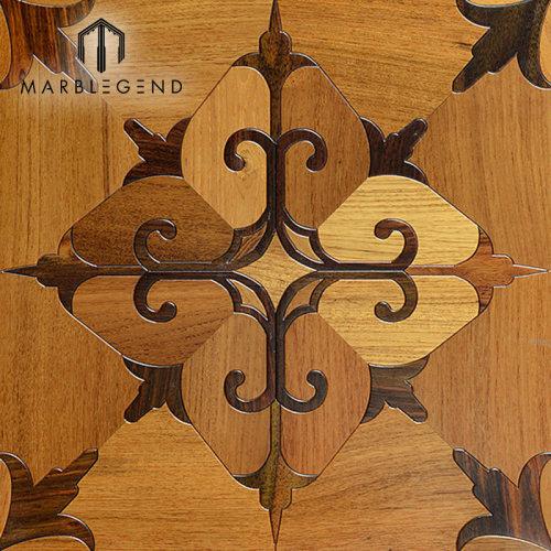 Rhombus تصميم الخشب المطعمة البطانة الخشبية الصلبة الأرضيات الخشبية الباركيه