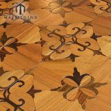 Rhombus Design Marquetry Wood Inlay Solid Wood Parquet Flooring Tiles