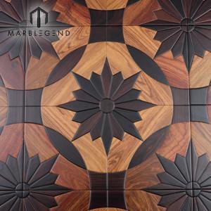 Европейский стиль Santos Rose инкрустация из дерева Kosso Wood Паркетные полы