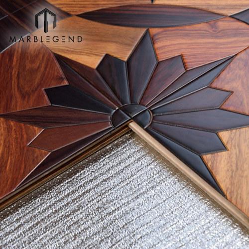 النمط الأوروبي سانتوس روز الخشب البطانة كوسو الخشب الباركيه الأرضيات الخشبية