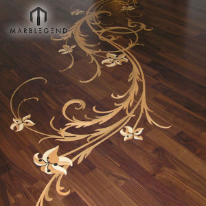 Hot Sale Art Work Engineered Medallion Decorative Villa Flooring Wood Floor Inlay