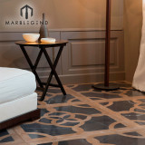 Classic Pattern Parquet Wood  Marble Inlay Flooring Tiles