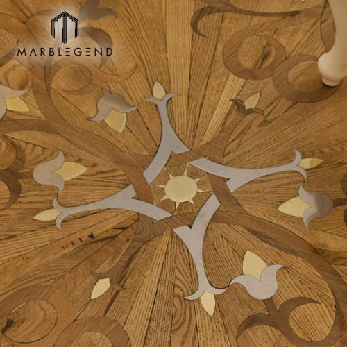 الملوك زهرة نمط هندسي البطانة ترصيع الخشب البطانة باركيه الأرضيات
