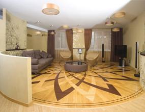 3D Natural Parquet Wood Flooring Design