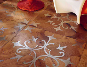 Wood Stainless Steel Flooing Pattern
