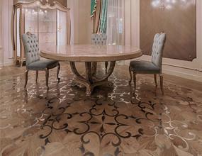 الطبيعية Sapele الخشب البطانة الفولاذ المقاوم للصدأ الأرضيات