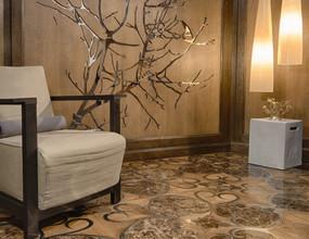 Dark Emperadorack Marble Wood Parquet Flooring