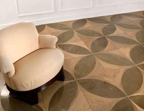 Turkish Grey Marble Wood Teak Parquet Design