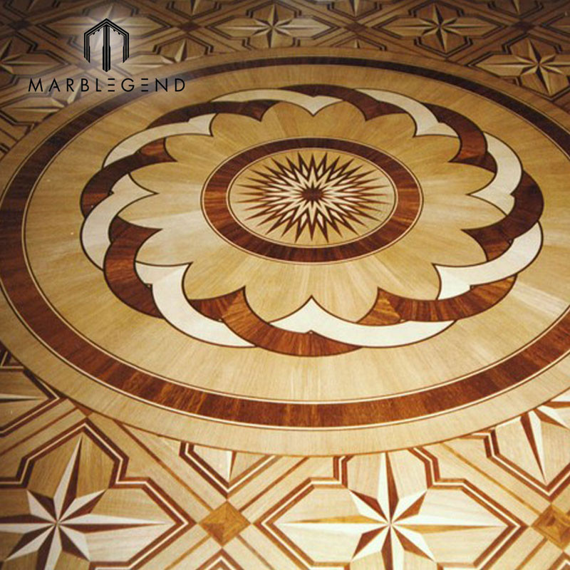 Antique Flowers Engineered Pattern Medallion Flooring Wood