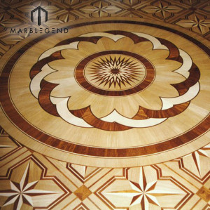 Antique Flowers Engineered Pattern Medallion flooring Wood Floor Inlay