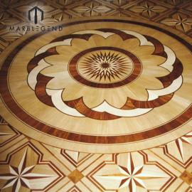 Старинные цветы спроектированный образец медальон настил инкрустации деревянного пола