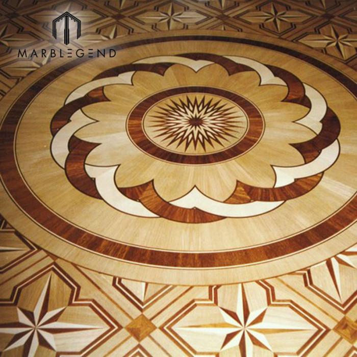 Antique Flowers Engineered Pattern Medallion flooring Wood Floor Inlay