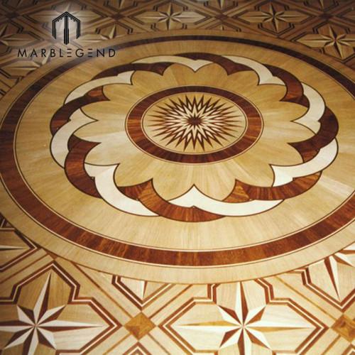 Antigüedades con diseño de flores, pisos de medallones, pisos de madera, incrustaciones