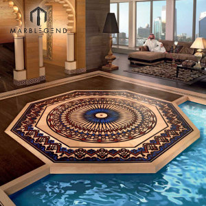 Decorative Home 3D Flooring Wood Floor Inlay Medallion