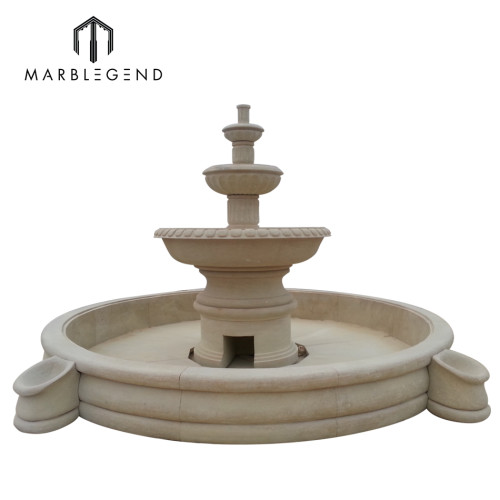 Proveedor de fuente de agua de mármol de jardín exterior por mayor