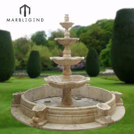 حديقة في الهواء الطلق الديكور أربعة نافورة مياه رخامية