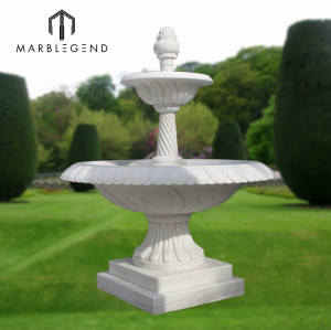 Small Garden Decoration White Marble Water Fountain