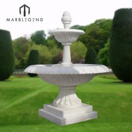 Небольшое украшение сада Белый мраморный фонтан