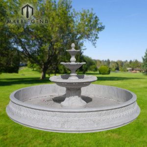 High quality three tiers garden marble water fountains for sale