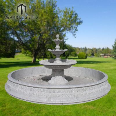 Alta calidad de tres niveles de jardín de mármol fuentes de agua para la venta