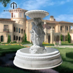 PFM Large outdoor stone carving garden water fountains manufacturer
