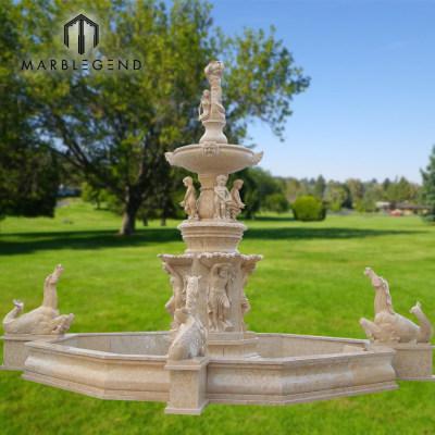 Fuente de agua de mármol de talla de piedra al aire libre clásica para la decoración del jardín