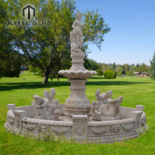 Venta al por mayor al aire libre jardín fuente de mármol fuente de agua precio