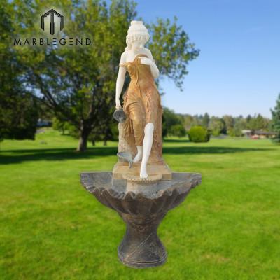 Fuente de agua de mármol de la decoración del jardín del estilo simple moderno para la venta