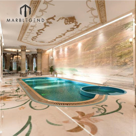 Casa de lujo interior piscina servicios de diseño 3D.