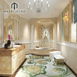Роскошный интерьер ванной комнаты проекта 3D дизайн услуги
