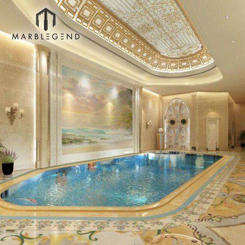 Chechenia palacio privado piscina servicio de diseño de proyectos.