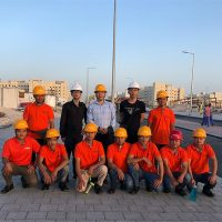 PFM's project about marble tile installation in Doha