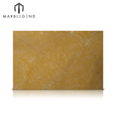 Interior Decoration Natural Spanish Amarillo Mares Gold Marble Slabs
