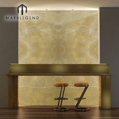 الداخلية الديكور الطبيعية الإسبانية أماريلو ماريس الذهب ألواح الرخام