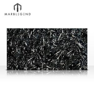 PFM Morocco Black Fossil Marble Slabs for wall and floor decoration