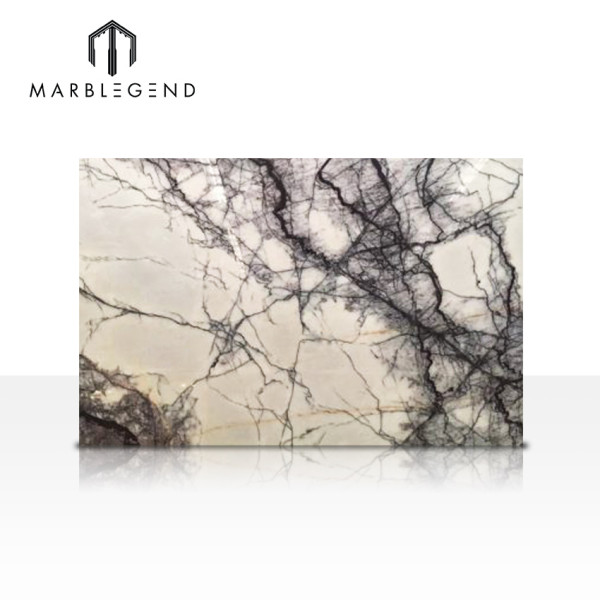 Home decoration Turkey Milas Lilac white Marble Slabs