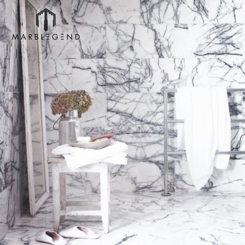 تزيين المنزل تركيا ميلاس ليلك ألواح الرخام الأبيض