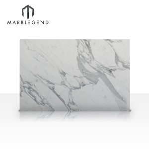China factory Elegant style Statuario White Marble for bathroom