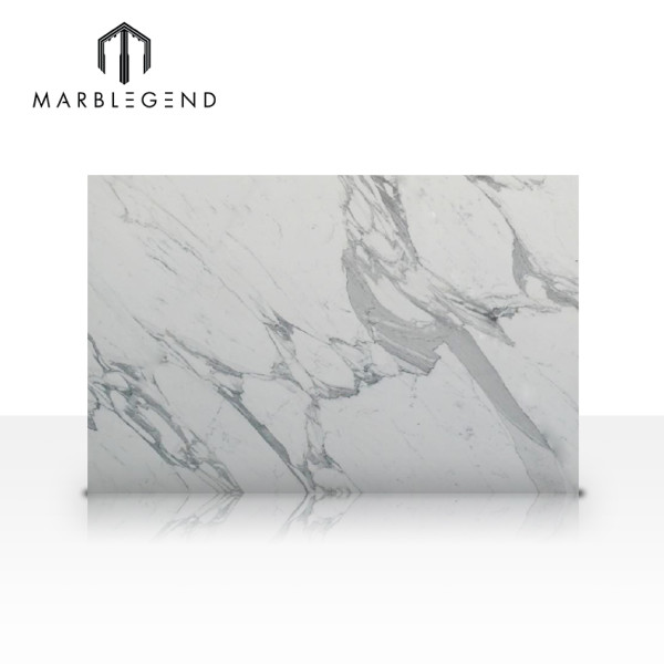 China factory Elegant style Statuario White Marble for bathroom