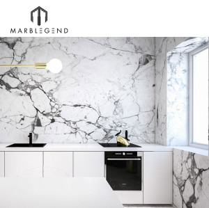 Residential and commercial interior decor Carrara Venato marble slab