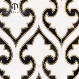 Гидроабразивная мозаика с мозаикой в стиле люкс для кухни