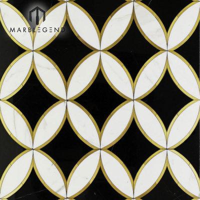 تصميم حسب الطلب المشكال المائل الرخام اتيرجيت بلاط الموزاييك الكلمة