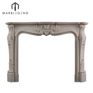 Wholesale price decoration carved Louis XV marble fireplace