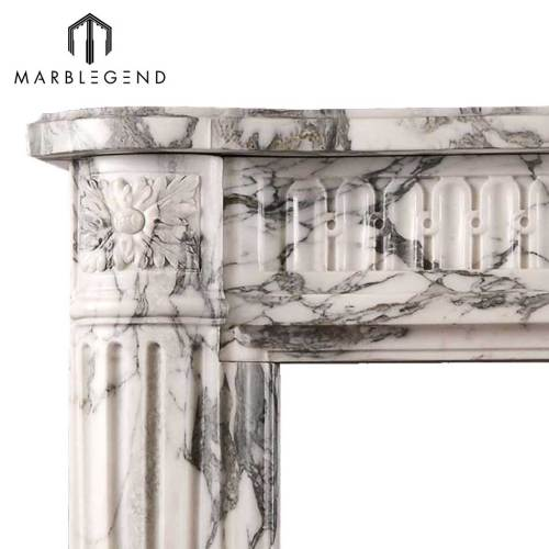 Chinese supplier carrara white marble fireplace mantel