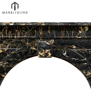 High quality wholesale price Victorian Portoro Marble fireplace mantel